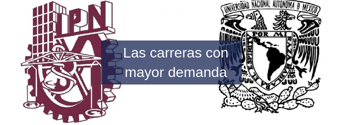 Las carreras con mayor demanda en la UNAM y Poli